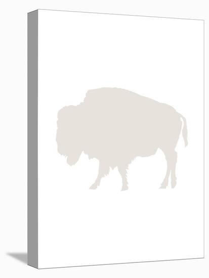 Beige Buffalo-Jetty Printables-Stretched Canvas Print
