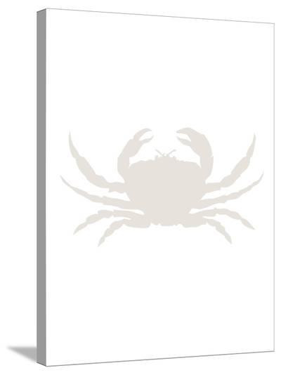 Beige Crab-Jetty Printables-Stretched Canvas Print