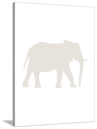 Beige Elephant-Jetty Printables-Stretched Canvas Print