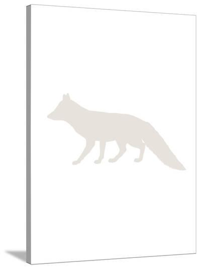 Beige Fox-Jetty Printables-Stretched Canvas Print
