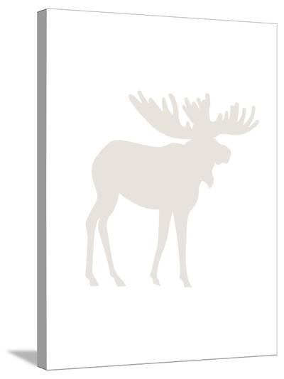 Beige Moose-Jetty Printables-Stretched Canvas Print