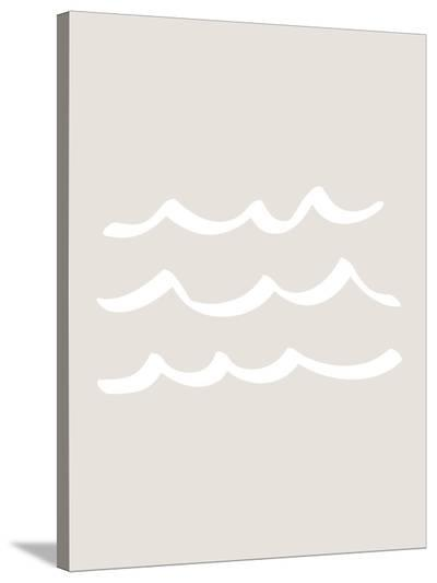 Beige Waves-Jetty Printables-Stretched Canvas Print