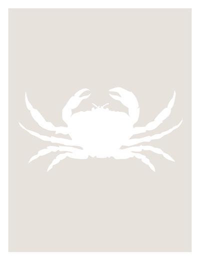 Beige White Crab-Jetty Printables-Art Print