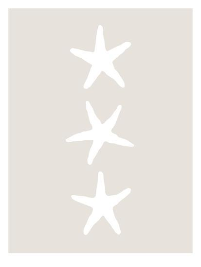 Beige White Starfish Vertical-Jetty Printables-Art Print