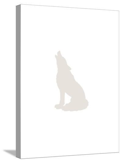 Beige Wolf-Jetty Printables-Stretched Canvas Print