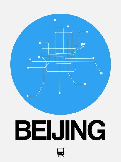Beijing Blue Subway Map Art Print By Naxart Art Com