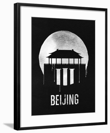 Beijing Landmark Black--Framed Art Print