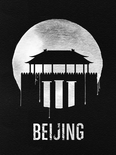 Beijing Landmark Black--Art Print