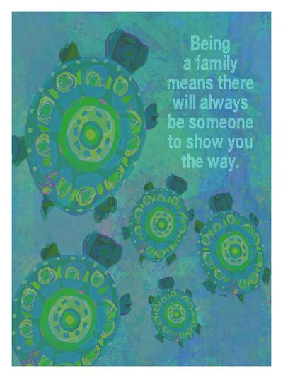 Being A Family - Turtle-Lisa Weedn-Giclee Print