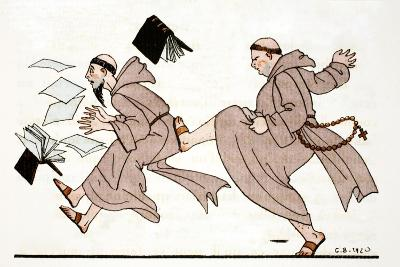 Being Chased by the Abbot, 1920-Georges Barbier-Giclee Print