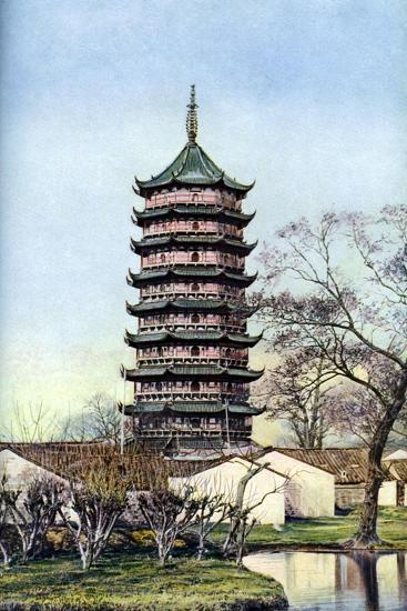 Beisi Pagoda, Suzhou, Jiangsu Province, China, C1924-Ernest Peterffy-Giclee Print