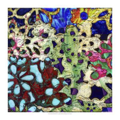Bejeweled Woodblock II-Ricki Mountain-Art Print