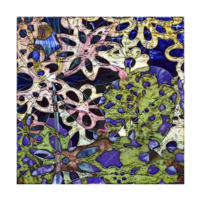 Bejeweled Woodblock III-Ricki Mountain-Art Print