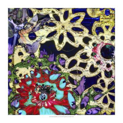 Bejeweled Woodblock IV-Ricki Mountain-Art Print