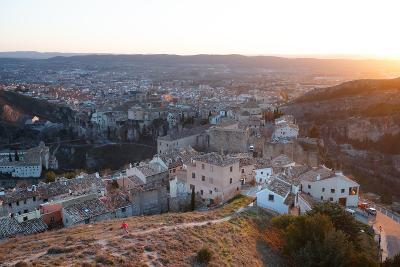 Bekah Herndon Goes For A Run At Sunset Above The Medieval Old Town Section Of Cuenca, Spain-Ben Herndon-Photographic Print
