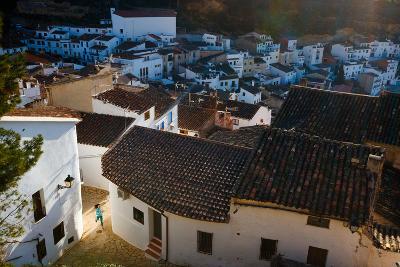 Bekah Herndon Goes For A Run Below The Quaint Town Of Chulilla, Spain At Sunrise-Ben Herndon-Photographic Print