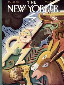 The New Yorker Cover - March 26, 1932 by Bela Dankovszky