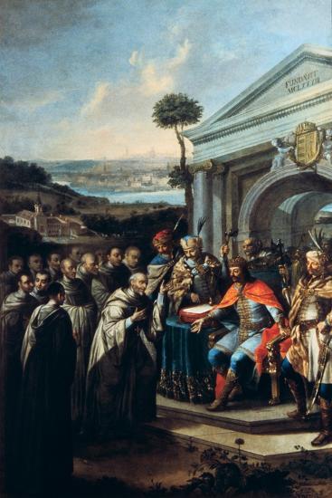 Bela III Founding the Cistercian Monastery at Szentgotthard in 1183-Istvan Dorfmeister-Giclee Print