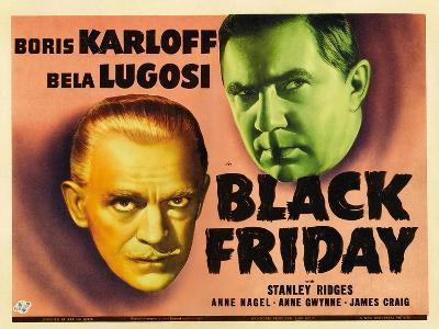 Bela Lugosi, Black Friday, 1940--Giclee Print
