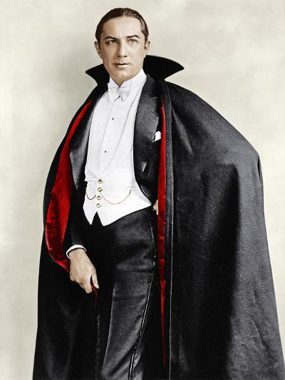 Bela Lugosi dressed in costume for his role in the Broadway play, 'Dracula,' 1927-1928--Photo