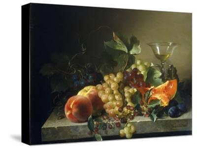 A Still Life with Fruit on a Stone Ledge, 1858