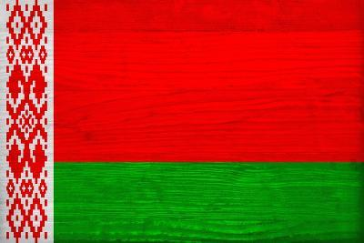 Belarus Flag Design with Wood Patterning - Flags of the World Series-Philippe Hugonnard-Art Print