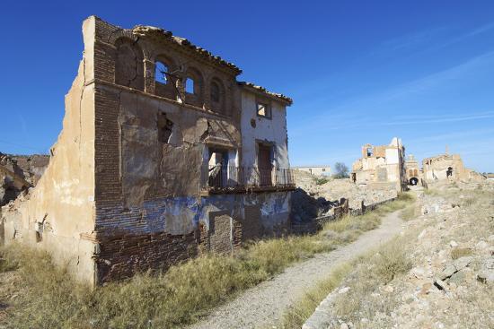 Belchite Village Destroyed in a Bombing during the Spanish Civil War, Saragossa, Aragon, Spain-pedrosala-Photographic Print