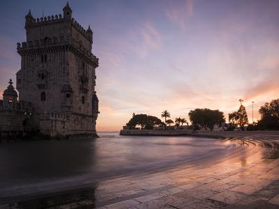 Belem Tower at Dusk (Torre De Belem), Lisbon, Portugal-Ben Pipe-Photographic Print