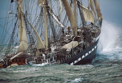 Belem by Philip Plisson Ship Ocean Print 40x30