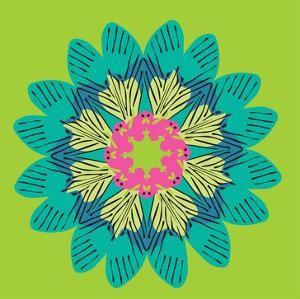 Funky Frida Flower by Belen Mena