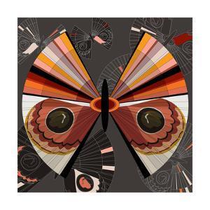 Nature Fan, Moth Color by Belen Mena