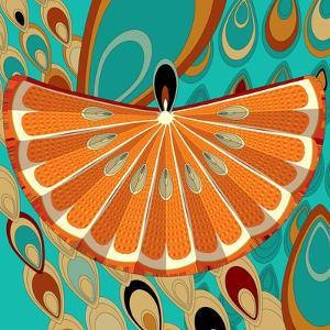 Nature Fan, Orange Color by Belen Mena