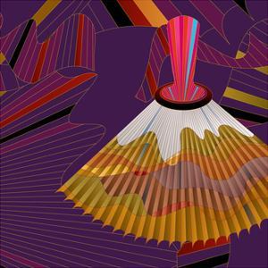 Nature Fan, Volcano Color by Belen Mena