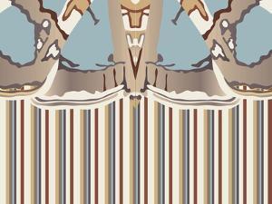 Neutral Blue Striped Ascension by Belen Mena