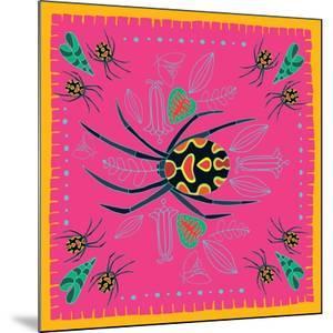 Spider, Pink Crab Spider by Belen Mena