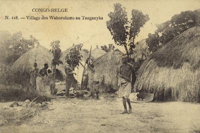 Belgian Congo - Wahorohoro Village in Tanganyika, East Africa--Photographic Print