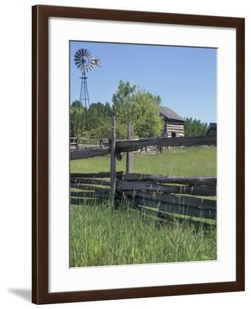 Belgian Immigrants' Farm and Windmill, Heritage Hill, Green Bay, Wisconsin--Framed Photographic Print