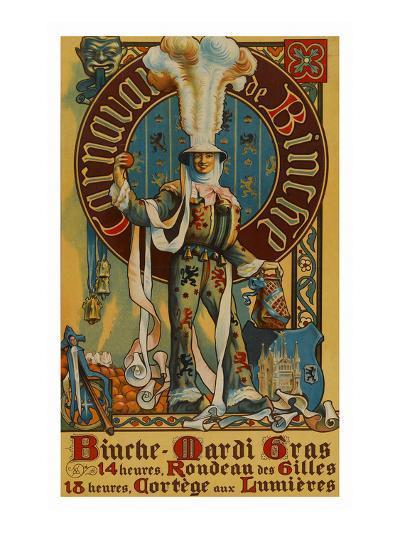 Belgian Mardi Gras Poster--Art Print