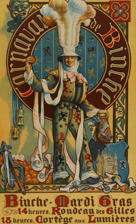 Belgian Mardi Gras Poster