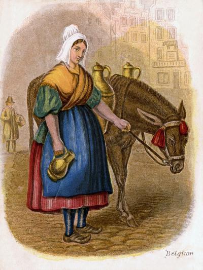 Belgian Milk-Woman, 1809-W Dickes-Giclee Print