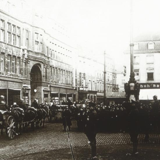 Belgian troops, Aachen, Germany, c1914-c1918-Unknown-Photographic Print
