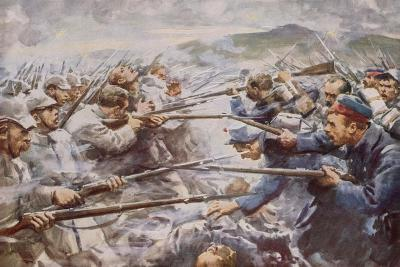 Belgians Repelling a Fierce German Attack at Liege-Arthur C. Michael-Giclee Print