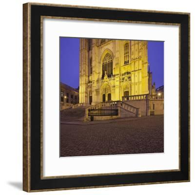 Belgium, Brussels, Cathedral Saint Michel Et Gudule-Rainer Mirau-Framed Photographic Print