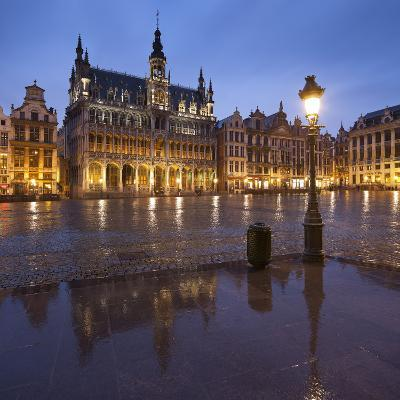 Belgium, Brussels, Grand-Place, Grote Markt, Evening-Rainer Mirau-Photographic Print