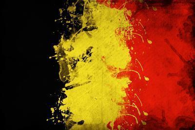 Belgium Flag-igor stevanovic-Art Print