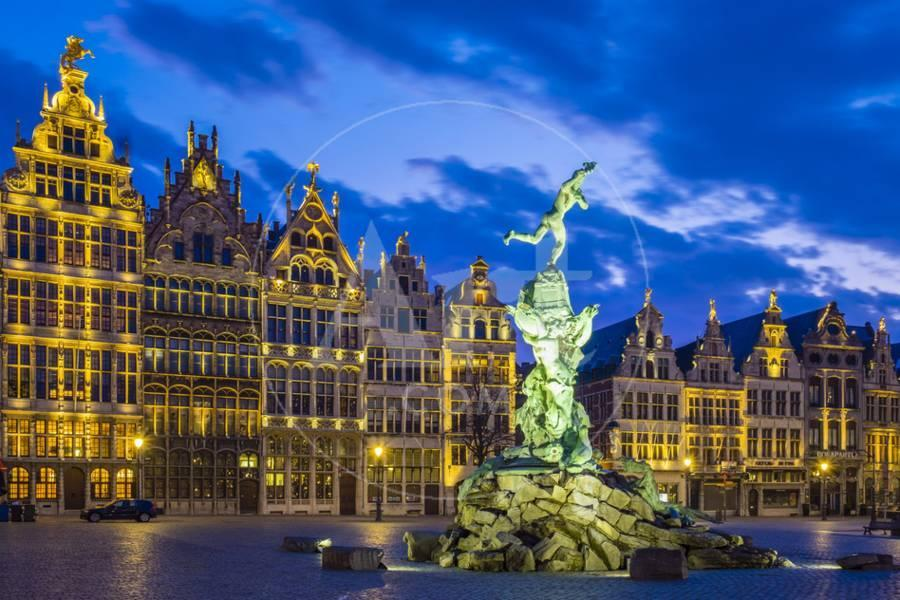 Belgium flanders antwerp antwerpen . medieval guild houses and