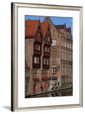 Belgium, Flanders, Bruges, Quai Du Rosaire--Framed Giclee Print