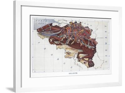 Belgium, from Stories of Old Containing Twelve Full-Page Illustrations in Colour, 1912-L. Tennant-Framed Giclee Print