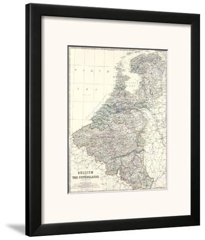 Belgium, Netherlands, c.1861-Alexander Keith Johnston-Framed Art Print