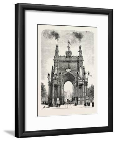 Belgium: the Memorial Arch of Triumph at Brussels, 1880 1881